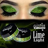 Lime Light - GlitterWarehouse Holographic Loose Glitter Powder Great for Eyeshadow / Eye Shadow, Makeup, Body Tattoo, Nail Art and More!