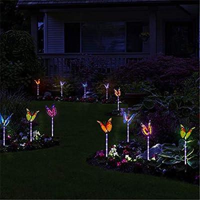 Mariposa Decorativa Luces De Jardín Con Energía Solar Exterior ...