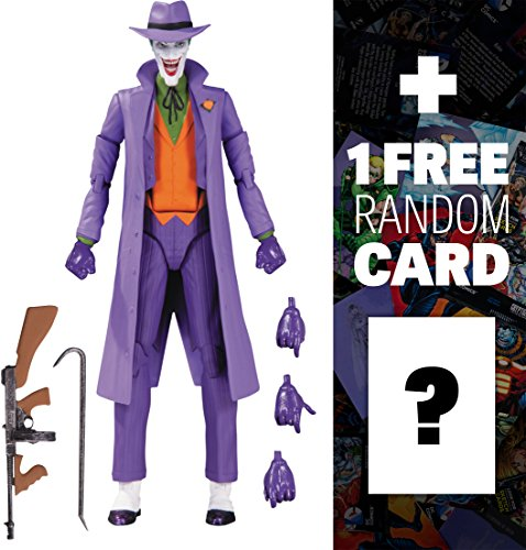 """Joker [A Death in the Family]: ~6"""" DC Comics Icons Action Figure + 1 FREE Official DC Trading Card Bundle (33618)"""