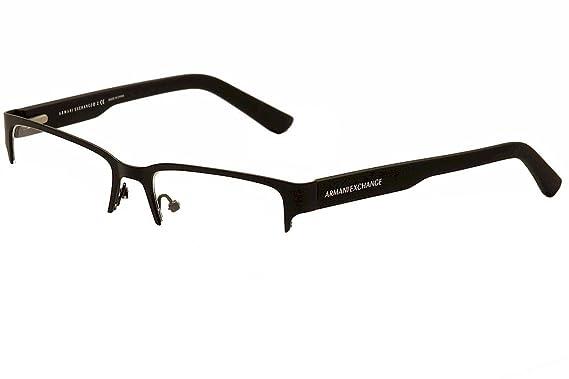 eb87305c780 Armani Exchange AX1014 Eyeglass Frames 6063-53 - Satin Black Matte Black  AX1014-