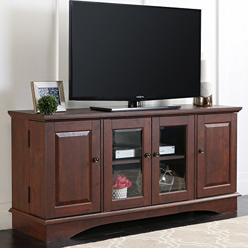 52'' Media Storage Wood TV Stand/Console in Medium Traditional Brown Finish by Home Accent Furnishings