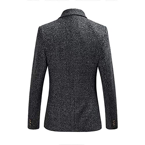 Giacche Suit Wedding Formale Grey Bolawoo Slim Dinner Mode Mens Jacket Blazer Marca Di Cotton Coat A Fit Autunno Smart Tuxedo wZaq1Zg