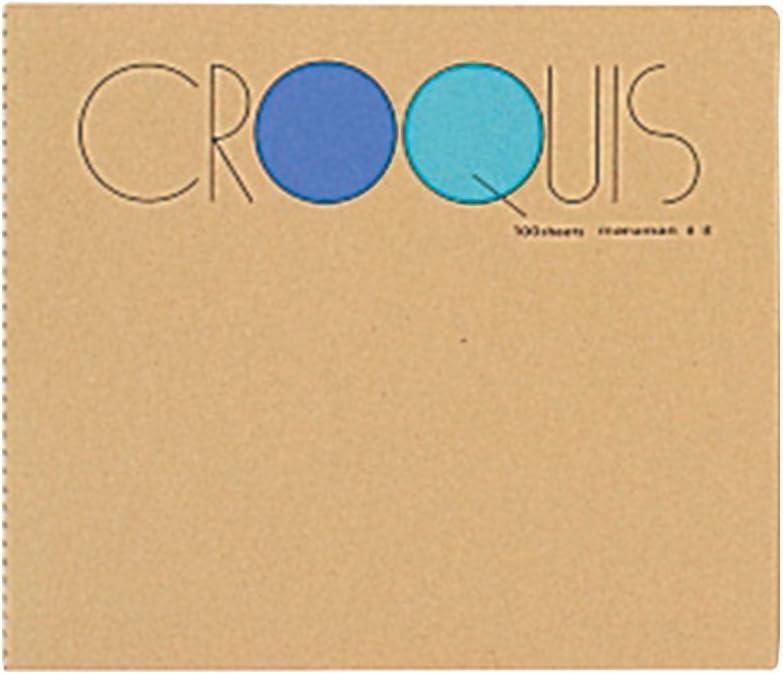 マルマン クロッキー帳 白クロッキー紙 ブルー SS-02