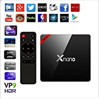 Xnano X96 Pro Android TV Box Amlogic S905X Quad Core Set Top Box 1G+8G Android 6.0 OS Bluetooth 4.0 4K 3D Smart Media Player