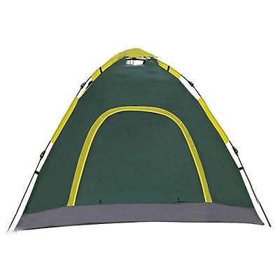 SZH&ZPT seule couche de tente de camping en plein air automatique imperméable et coupe-vent pour 3-4 personnes vert olive