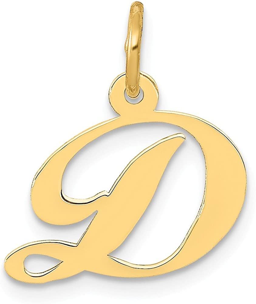 Mia Diamonds 14k Yellow Gold Small Script InitialT Charm