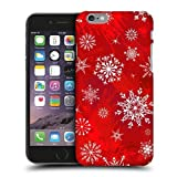 Christmas Red Snowflakes Hard Back Case Cover for iPhone 6 Plus (5.5 inch) Asas's Case