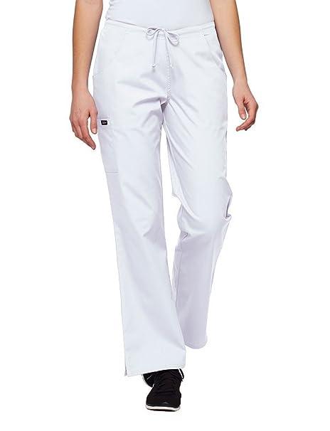 04edab4fc2b Tafford Uniforms Chop Cargo Scrub Pant, White, X-Large Petite ...
