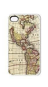 TUTU158600 Hard Snap on Phone Case iphone 4 cases for boys - Retro Old World