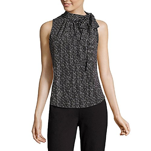 Liz Claiborne Sleeveless Tie-Neck Print Top Size XL
