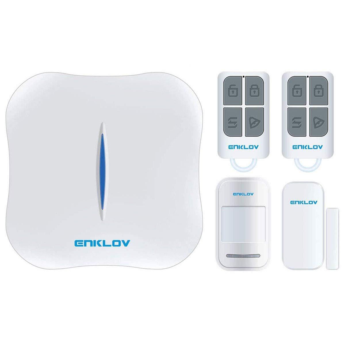 Amazon.com: ENKLOV WiFi/PSTN DIY Sistema de alarma de ...