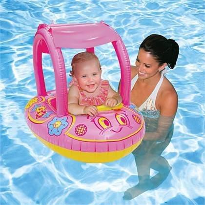 Aqua Leisure SunSmart Buggy float - Girl's Flower Sunshade ()
