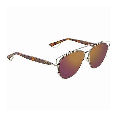 b8d284c63b Amazon.com  Dior Red Orange Mirror Round Sunglasses DIOR TECHNOLOGIC ...