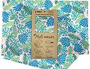Meli Wraps Beeswax Wraps - Reusable Food Wrap Alternative to Plastic Wrap. Certified Organic Cotton, Naturally