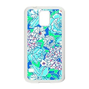 Blue Flowers Original New Print DIY Phone Case for SamSung Galaxy S5 I9600,personalized case cover ygtg611562