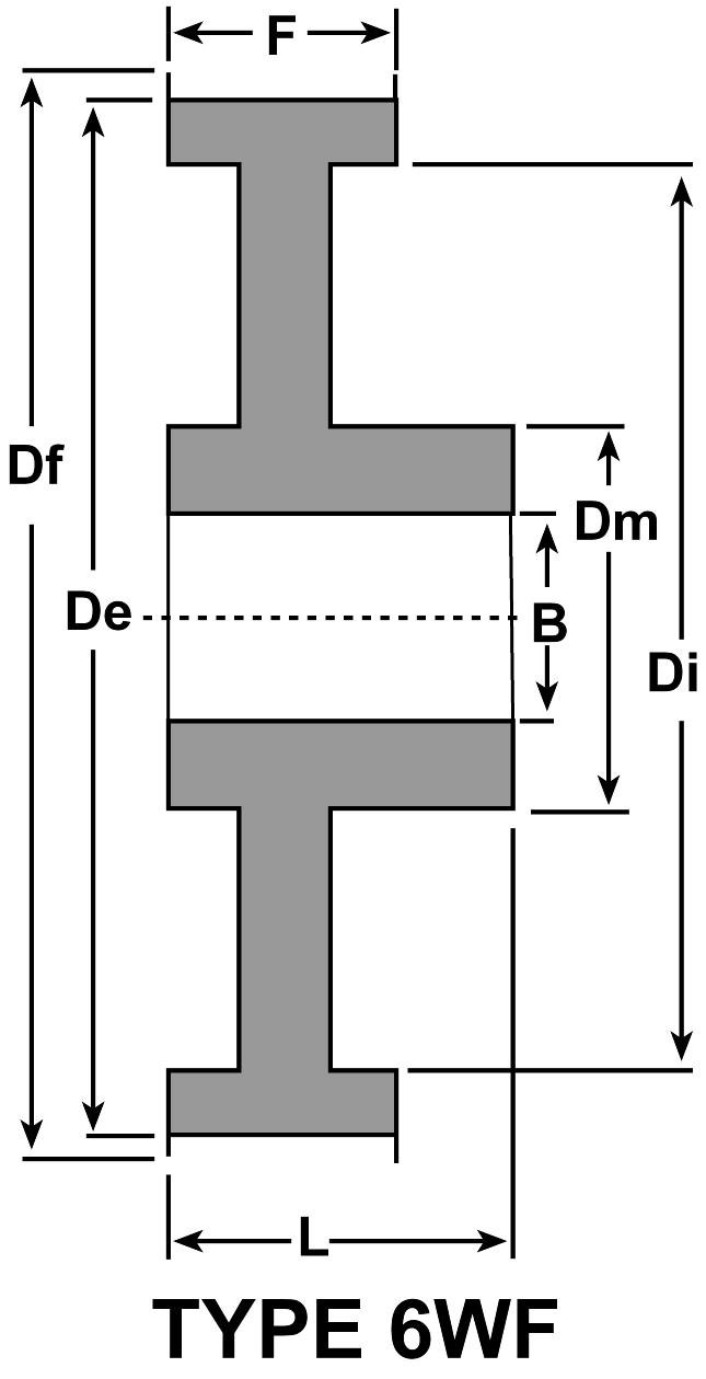 12 Teeth Aluminum D/&D Power Drive Belts D/&D DD27AT5-12 2-6F-A AT5 Metric Pitch Aluminum Synchronous Belt Pulleys