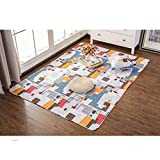 GIY Colorful Living Room Area Rug Soft Rectangular Travel Carpets Children Crawling Bedroom Rug Non-slip Washable Mats Home Decor Outdoor Indoor Runners 2.3' X 7'
