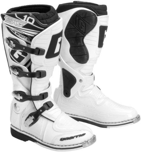 Gaerne Sg10 Motocross Boots - Gaerne SG10 Mens White Motocross Boots - 10