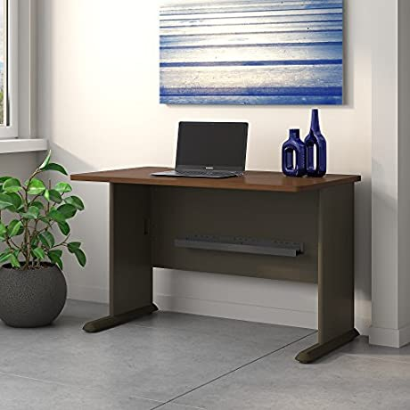 Bush Desk 47 1 2 Inch By 26 7 8 Inch By 29 7 8 Inch Sienna Walnut Bronze