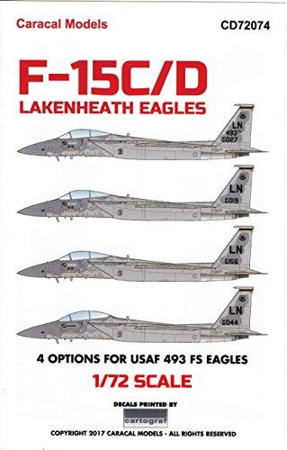 F-15d Eagle - Caracal Models CARCD72074 1:72 Decals - F-15C F-15D Eagle 'Lakenheath Eagles' [WATERSLIDE Decal Sheet]