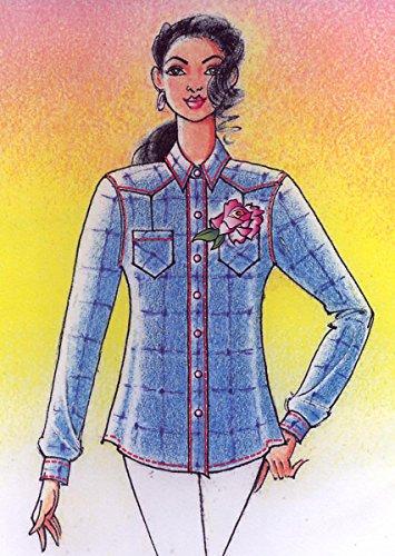 (Lady's Hawaiian Paniolo Ranch Shirt Sewing Pattern #110)
