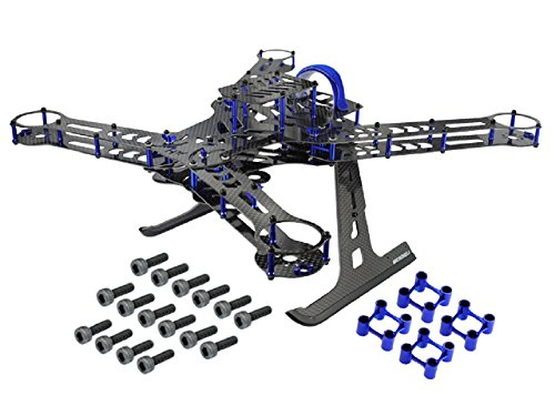Microheli CNC Aluminum/Carbon Fiber Quadcopter Frame Kit (BLUE/PURPLE) - BLADE 350 QX by Microheli Co.