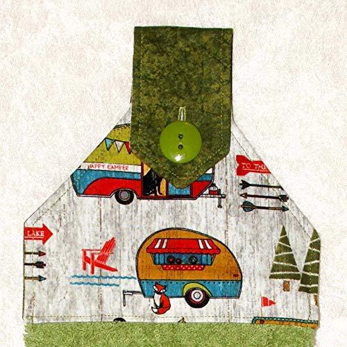 (RV Camping Towel - Teardrop Camping Trailer - Sage Green Retro Camper - Tab Pod Trailer)