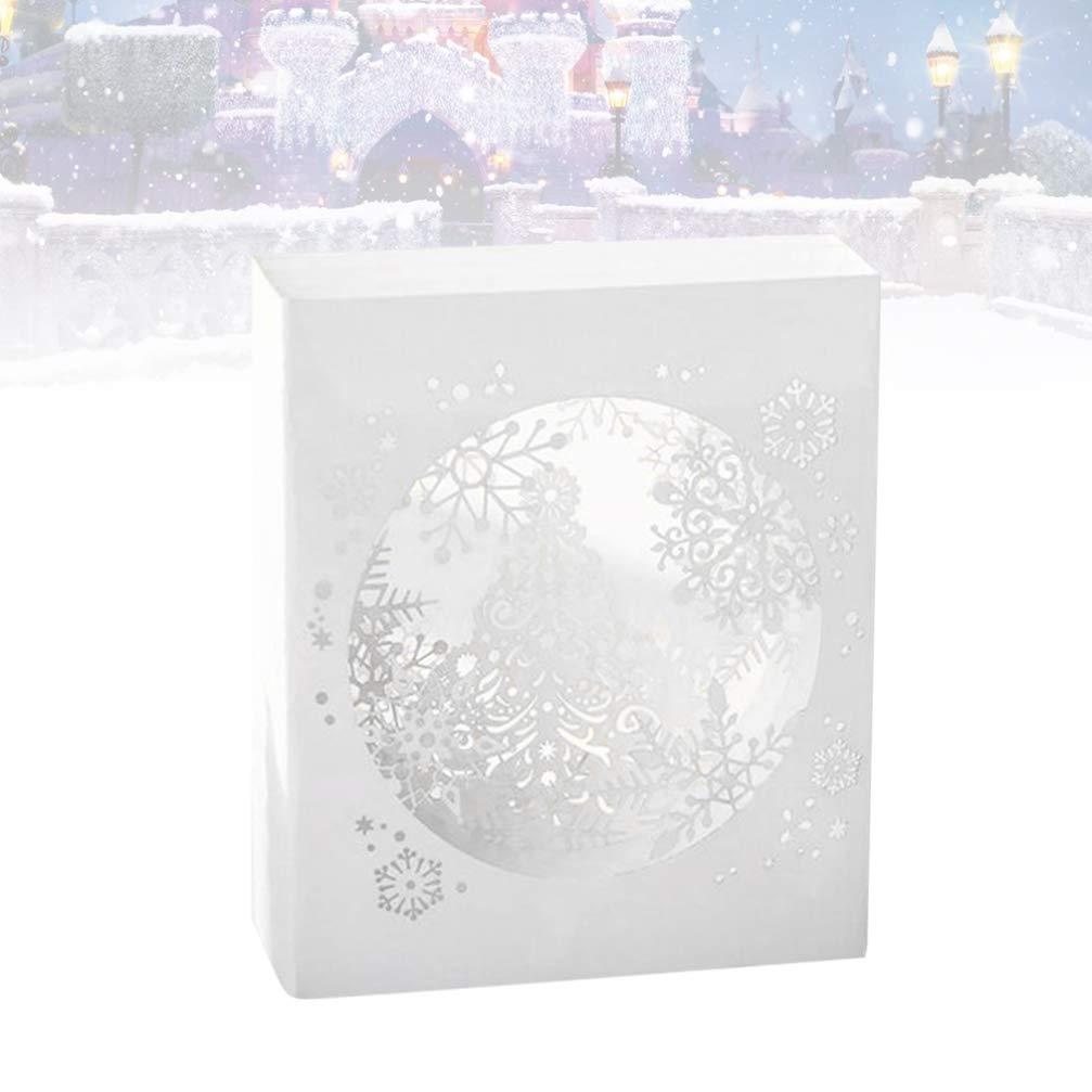 Vosarea 3D Snowflakes Christmas Pop Up Cards Festive Character Designs Children Kids