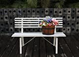 LYFESTYLE INNOVATIONS Garden Bench, White
