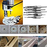 wood workers tool kit - Promisy Woodworking Drill Bits Square Hole Chisel Mortising Kits Tools(pack 4pcs)