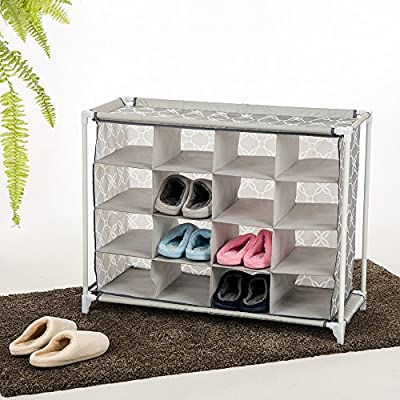 Glitzhome Foldable Oxford Shoe Organizer