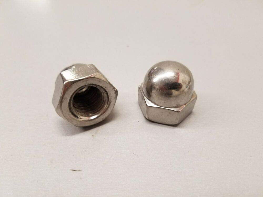 Lot of 10 Stainless Steel Acorn Cap Nuts 5/8-11