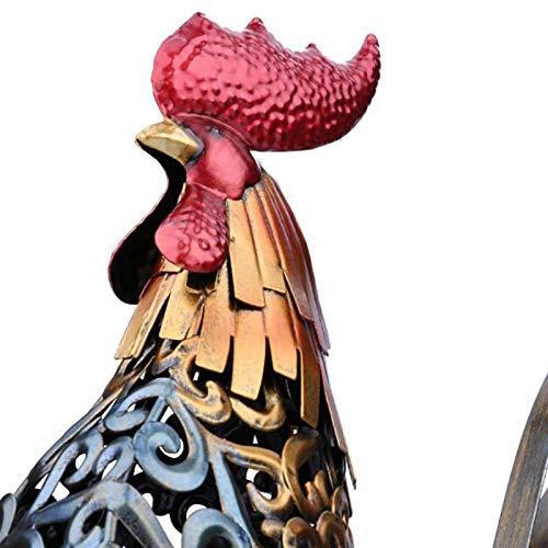 CJ/&WIN Decoraci/ón de Escultura de artesan/ía de Metal Arte de Escritorio de Interior Moderno Arte Abstracto de Animal Tallado Decoraci/ón de Oficina Arte Regalo-Pollo 16.1 Pulgadas
