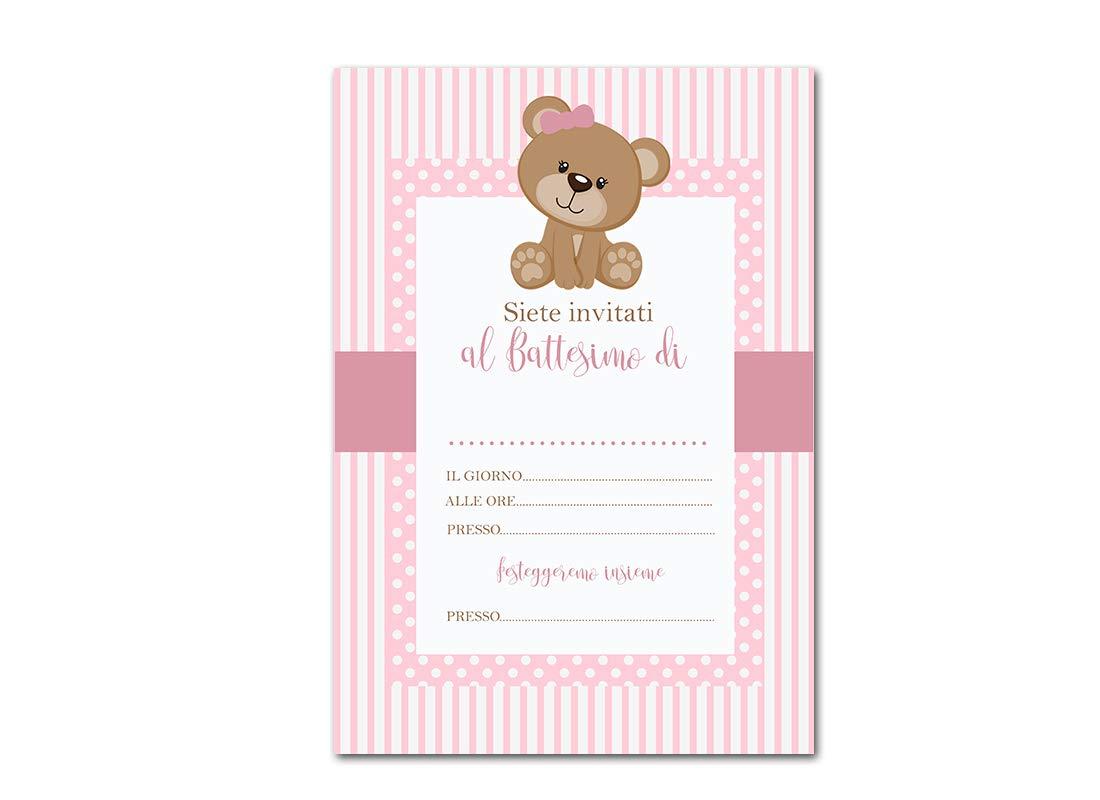 Battesimo - Baby Elephant Biglietti Inviti per Festa a Tema Grafica a Scelta 30pz