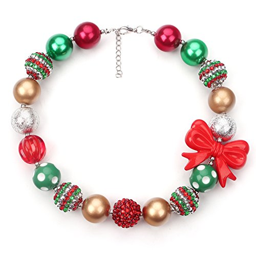 Christmas Bubbegum Necklace