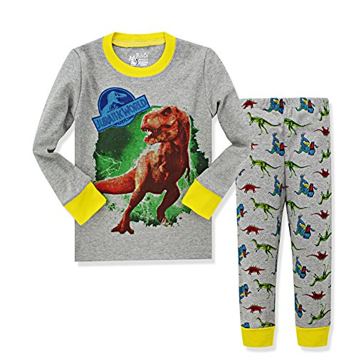 VICVIK Dinosaur Little Boys' Pajama Sets 100% Cotton Kids Pjs (7T, D02)