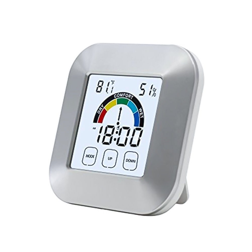 Lcd Digital Thermometer Hygrometer Alarm Clockwireless Multi Multifunction And With Clock Function Weather Monitoring Pdr