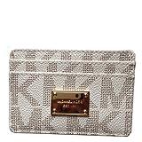 MICHAEL Michael Kors Item Card Case MK Signature PVC Vanilla, Bags Central