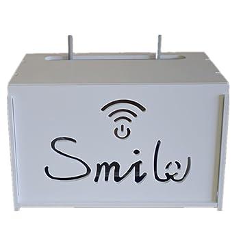 Xichengshidai Multi tamaño WiFi Router Cajas de Almacenamiento Estante, Blanco, B: Amazon.es: Hogar