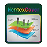 """Hentex Outdoor TV Cover, Breathable 3 Layer Eco Durable Waterproof, Velvet Soft Liner, 3 Way Open Flaps, Bottom Zipper & Remote Control Pocket, Fits Mount Bracket & Stand for LCD/LED TV (33"""") Khaki"""
