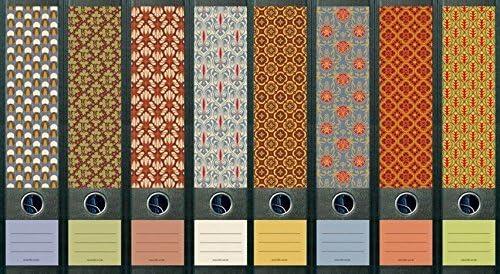 8er Set breite Ordnerr/ücken Pattern Ordner Etiketten Ordneraufkleber Aufkleber Deko 322 323