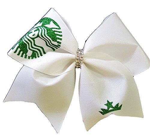 cheer-bows-white-glittery-bling-starbucks-hair-bow