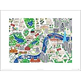 Posters: Maps Poster Art Print - London, Jamie Malone (16 x 12 inches)