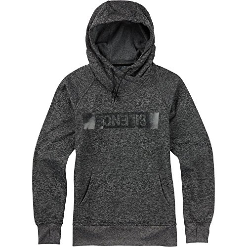 BURTON Women's Quartz Pullover Hoodie, Small, True Black Heather/Black Modern Floral