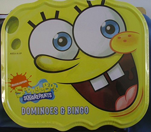 Nickelodeon SpongeBob Squarepants Dominoes & Bingo in Metal Sponge Container (Dominoes Spongebob)