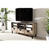 "Baxton Studio Wales 55"" TV Stand in Light Brown"