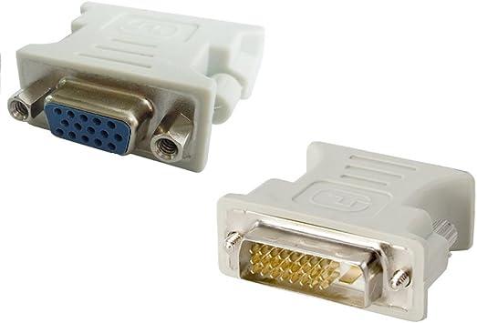 Adaptador DVI D Macho a VGA Hembra Color Negro convertidor VGA a DVI//24+1 Pines Macho a VGA Hembra