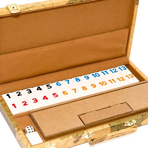 (United Nations of New York, Deluxe Rummy Set with Wooden Racks)