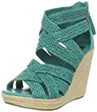 DV by Dolce Vita Women's Tulle Wedge Sandal,Turquoise Stella,6.5 M US