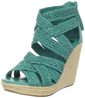 DV by Dolce Vita Women's Tulle Wedge Sandal,Turquoise Stella,11 M US